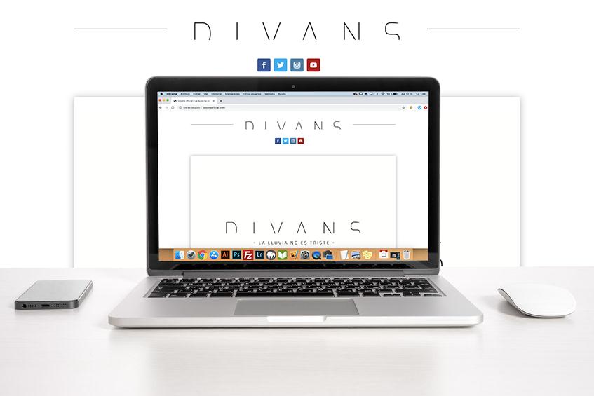 Página Web Divans grupo musical