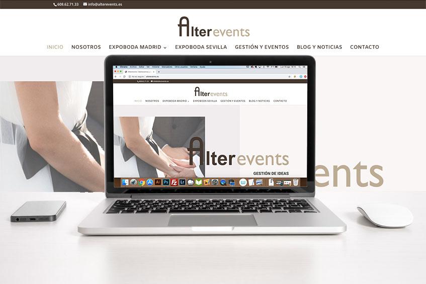 Así se hace una web para una empresa de organización de eventos
