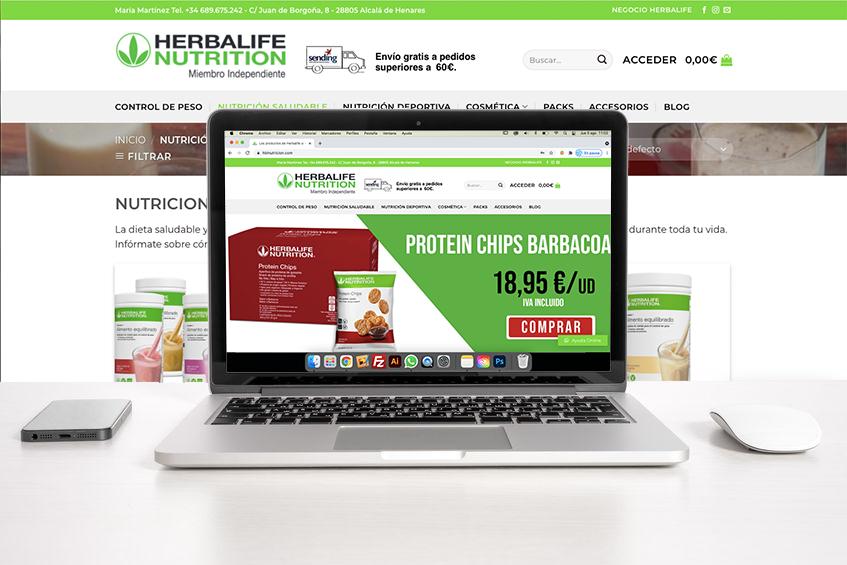 Venta de productos de miembro independiente Herbalife